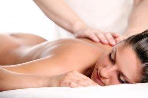 Woman enjoying a massage therapy
